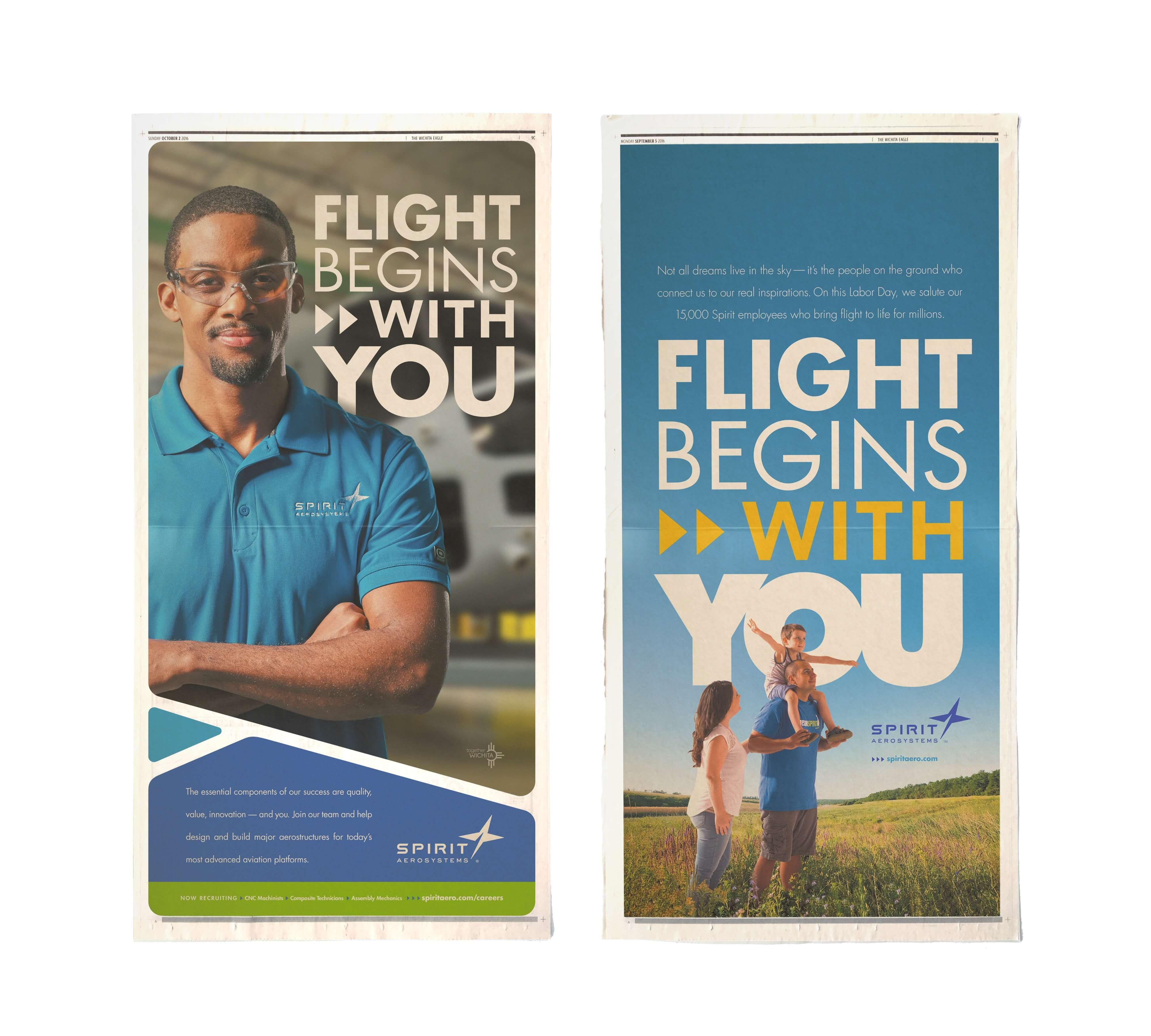 Spirit AeroSystems newspaper ad examples