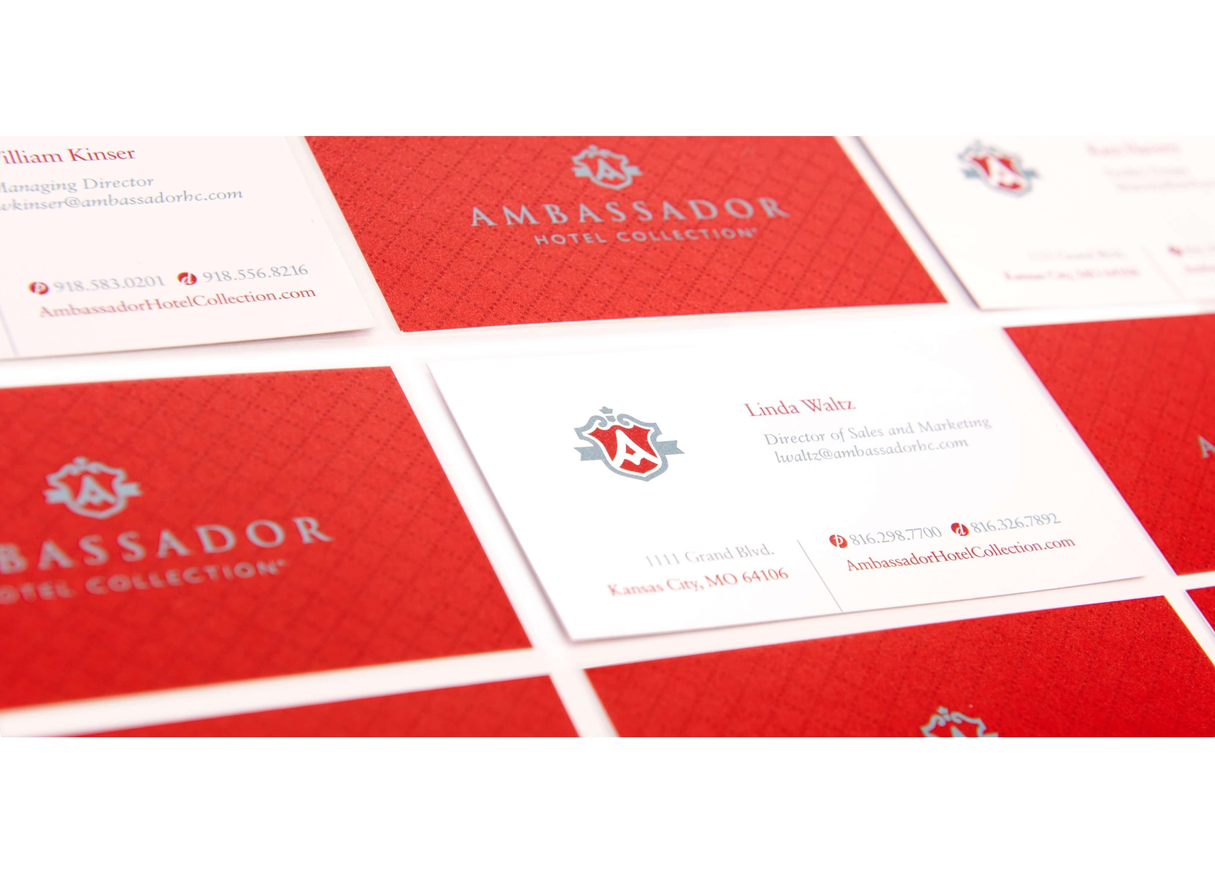 Ambassador business card examples