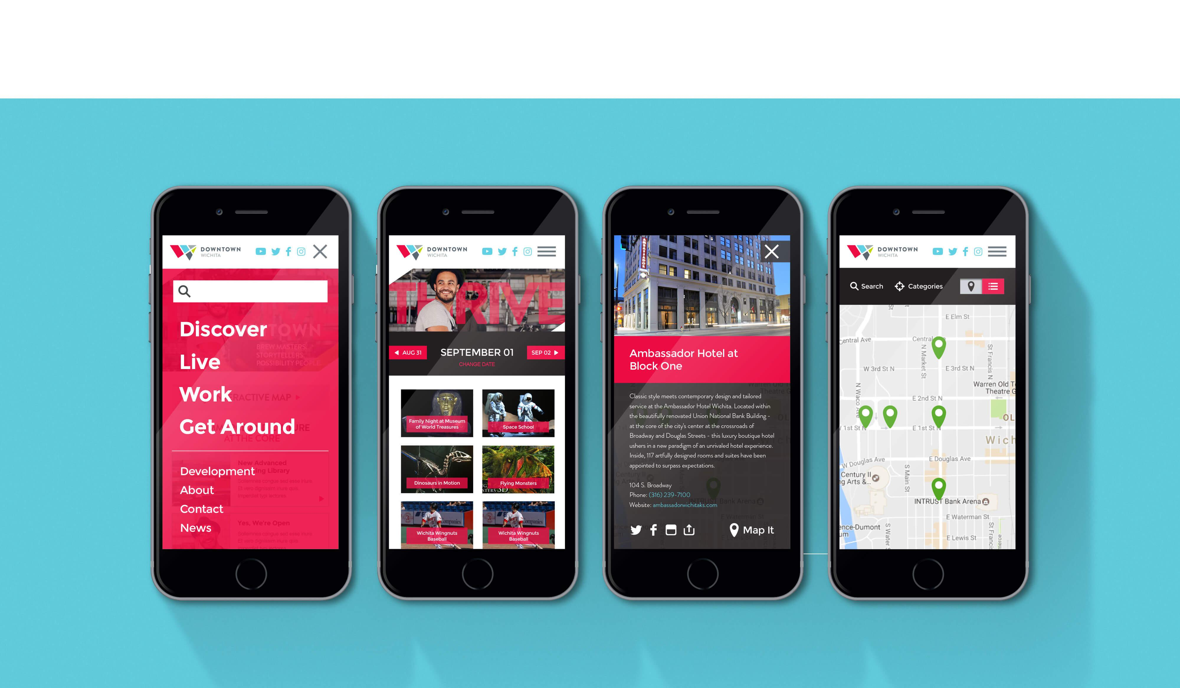 Downtown Wichita Mobile Responsive Website