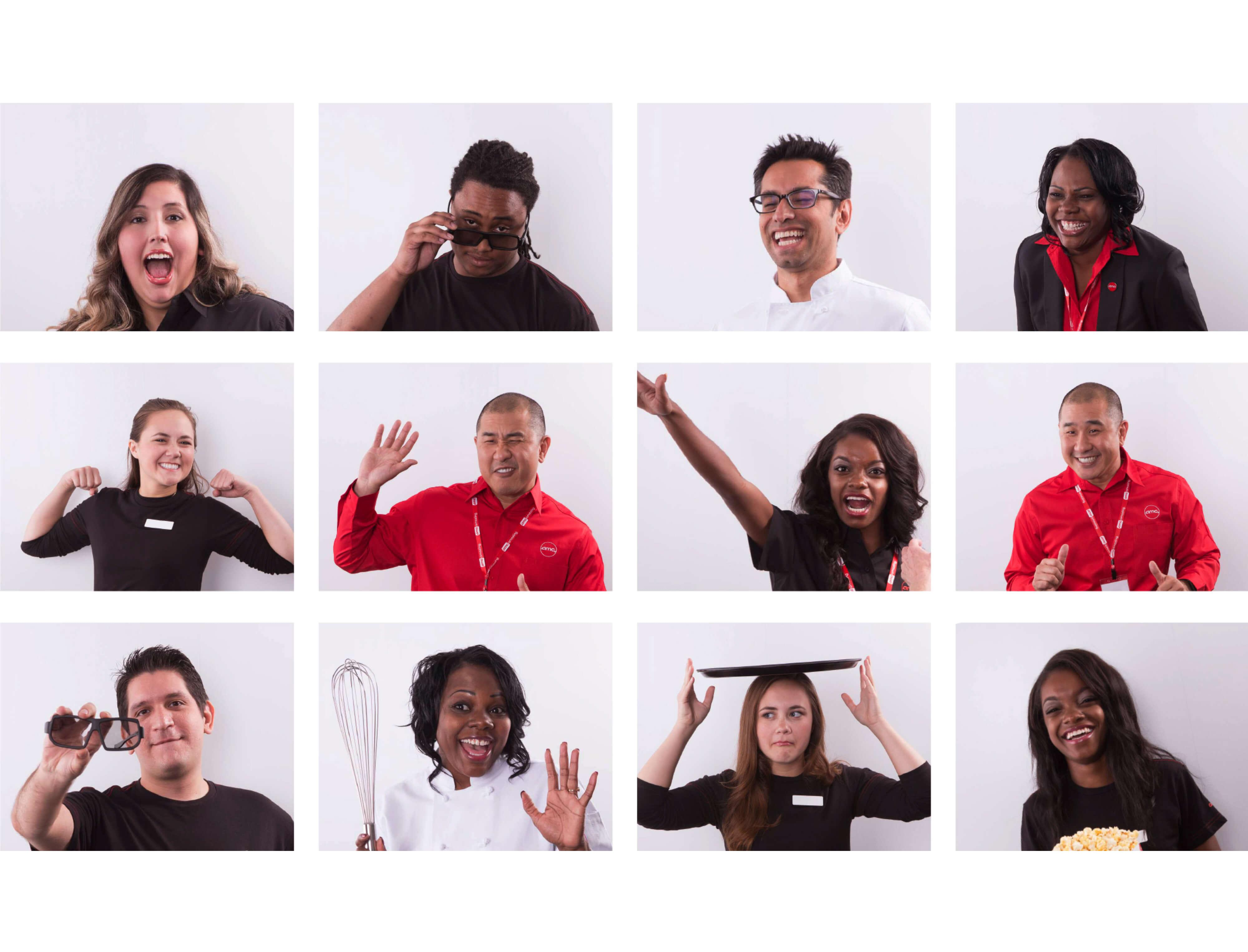 AMC Theaters employee photoshoot examples