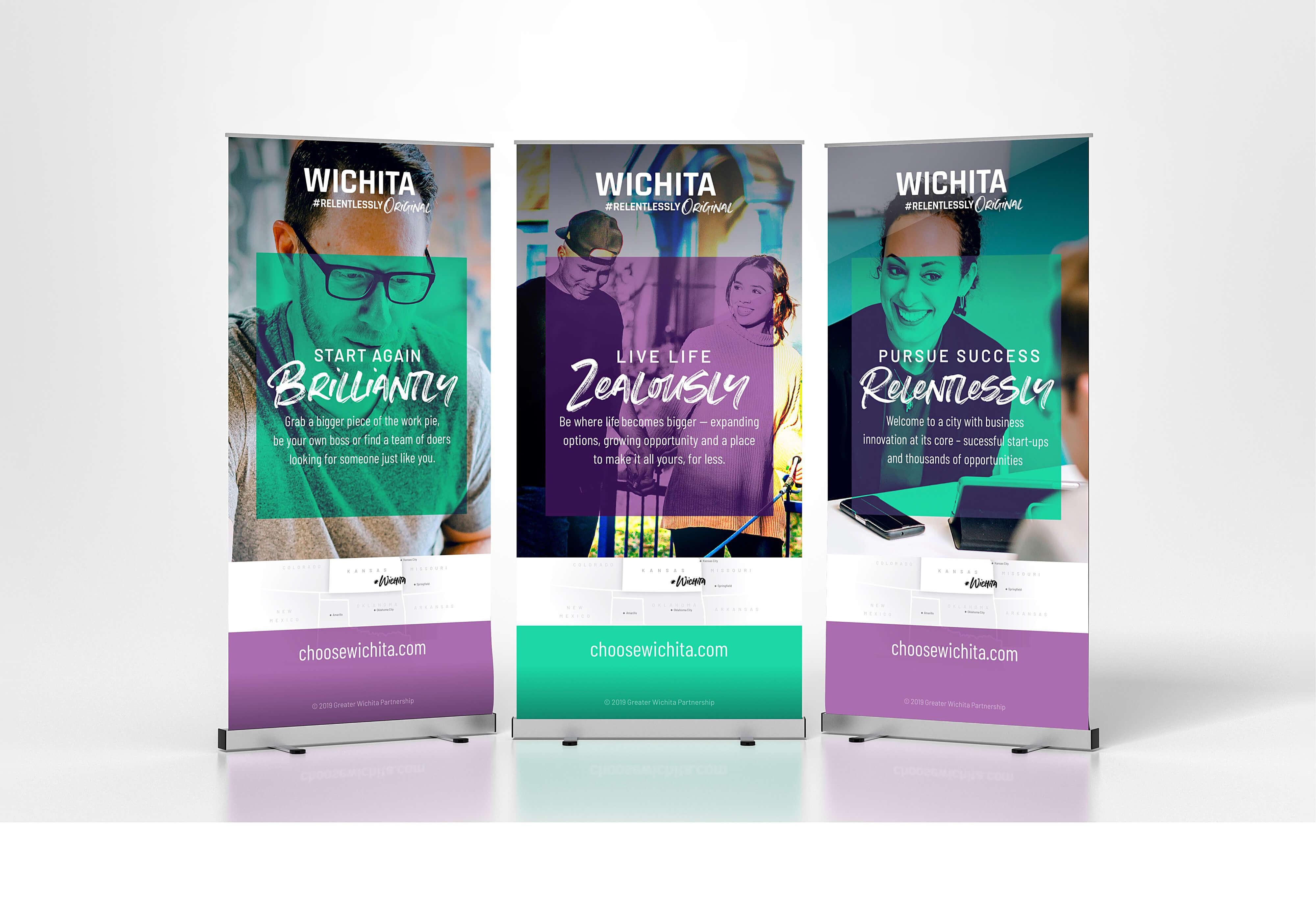 Greater Wichita Partnership Rollup Display Banners