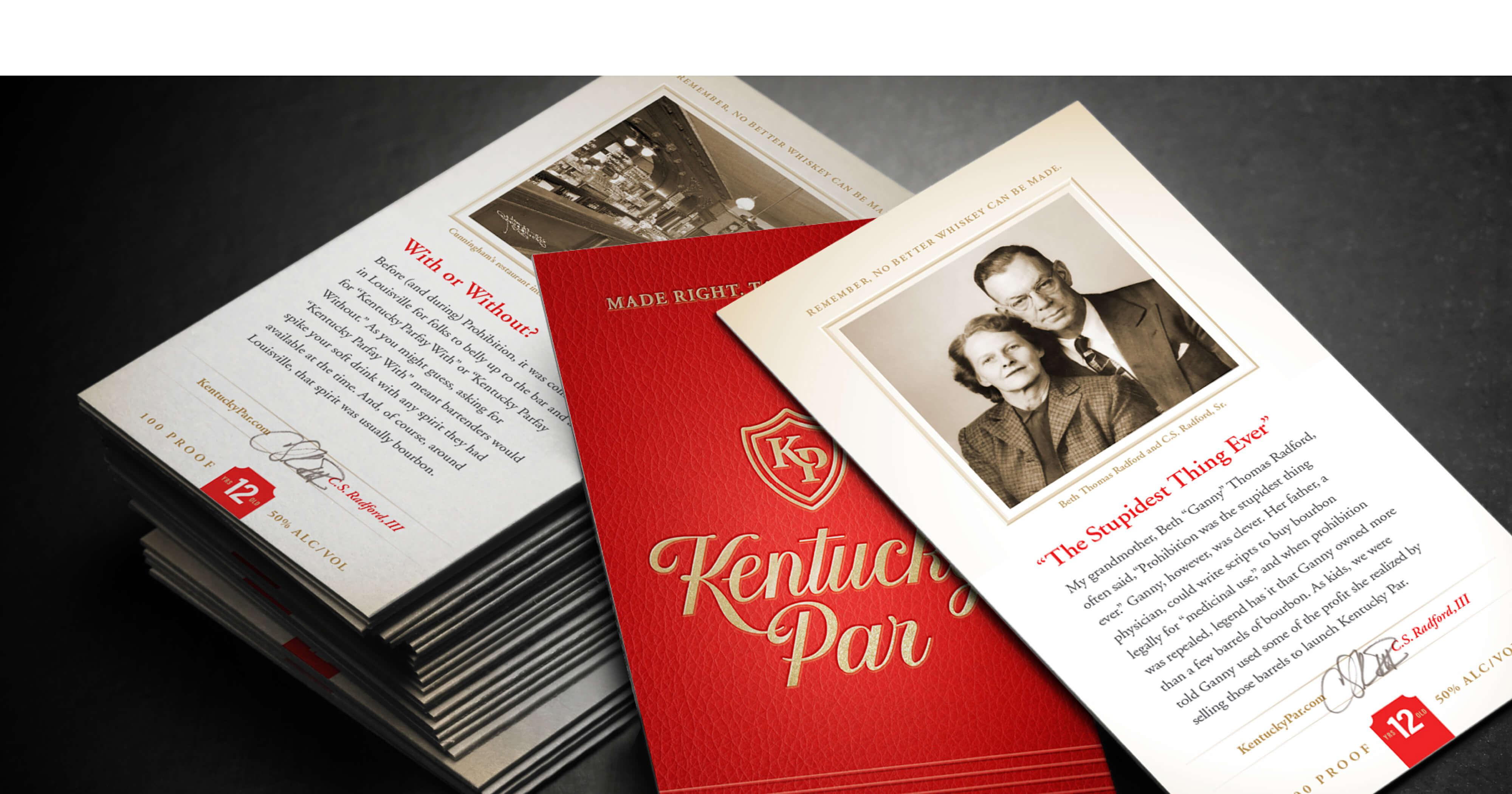 Kentucky Par Bourbon Story Cards