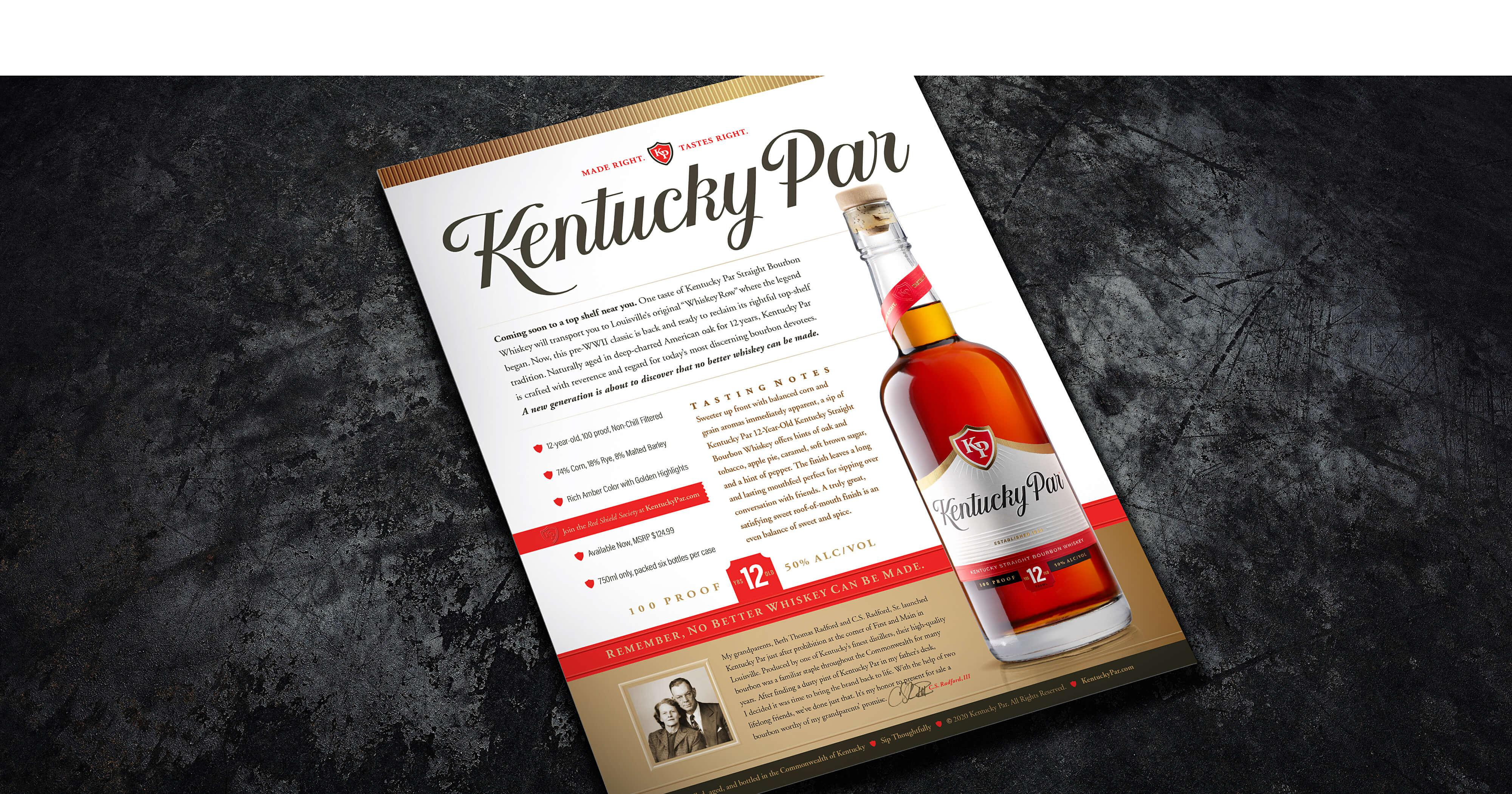 Kentucky Par Bourbon Sell Sheet
